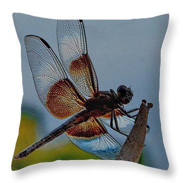 Dragonfly Sky Print Throw Pillow