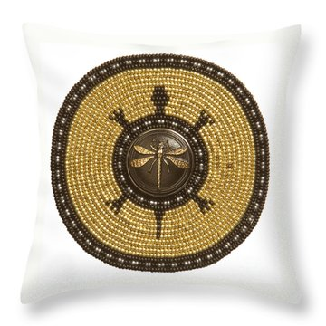 Dragonfly Turtle Throw Pillow