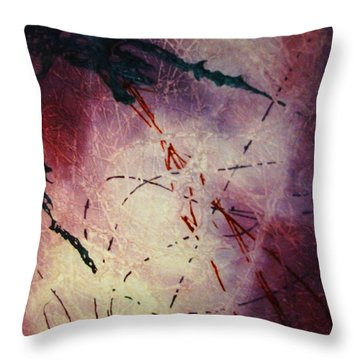Throw Pillow featuring the painting Dragons In The Mist by Stuart Engel