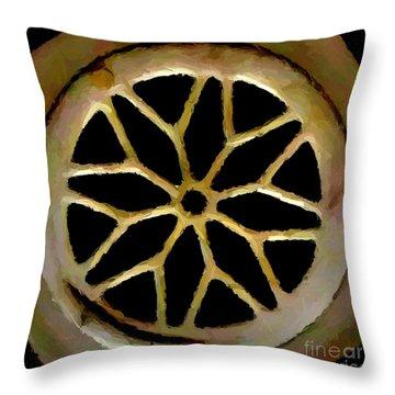 Drain Cover Throw Pillow by Chris Butler