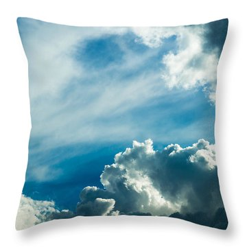 Drama In The Sky Throw Pillow by Alexander Senin