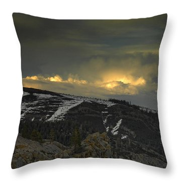 Drama Is Coming Throw Pillow by Donna Blackhall