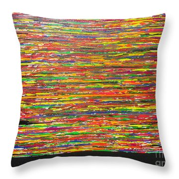 Throw Pillow featuring the painting Drama by Jacqueline Athmann
