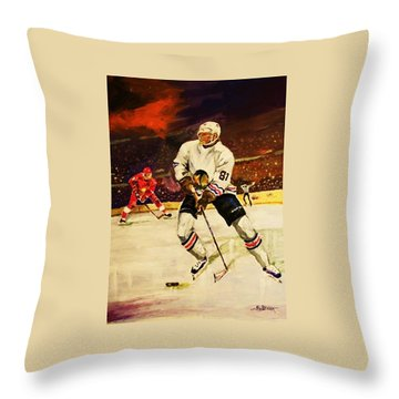 Throw Pillow featuring the painting Drama On Ice by Al Brown
