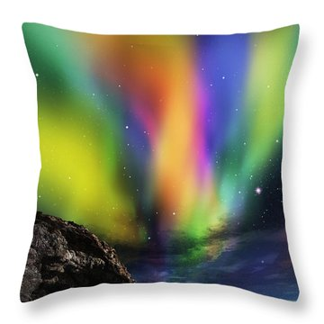 Dramatic Aurora Throw Pillow