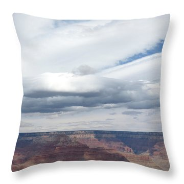 Dramatic Clouds Over The Grand Canyon Throw Pillow by Laurel Powell