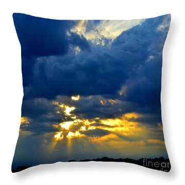 Dramatic Clouds Throw Pillow by Luther Fine Art