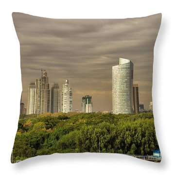 Dramatic Modern Buenos Aires Throw Pillow by For Ninety One Days