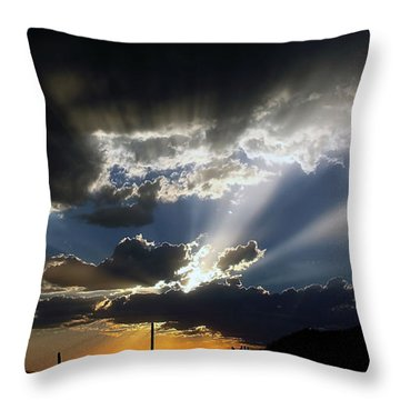 Dramatic Monsoon Sunset Throw Pillow
