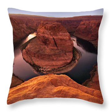 Throw Pillow featuring the photograph Dramatic River Bend by David Andersen