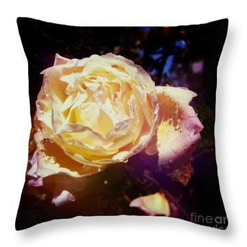 Dramatic Rose Throw Pillow