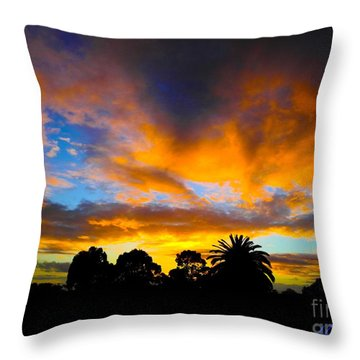 Throw Pillow featuring the photograph Dramatic Sunset by Mark Blauhoefer