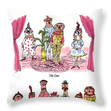 Dramatis Personae Throw Pillow