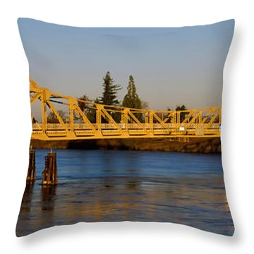 Drawbridge Across A River, The Throw Pillow