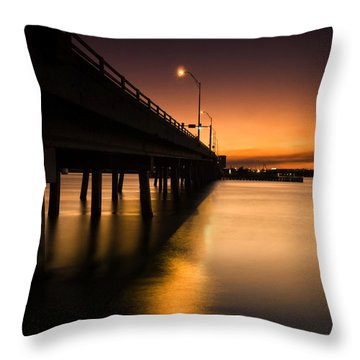 Drawbridge At Sunset Throw Pillow by Fran Gallogly