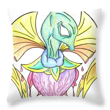 Drawing Abstract Creation Throw Pillow by Minding My  Visions by Adri and Ray