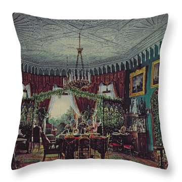 Drawing Room Of Empress Alexandra Feodorovna Throw Pillow