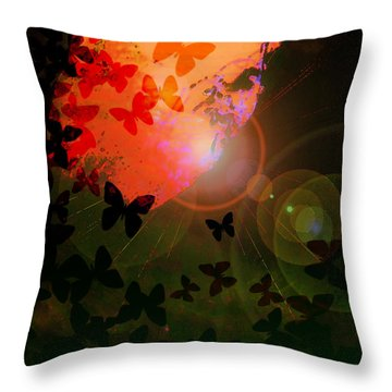 Drawn To The Light Throw Pillow by Kat Besthorn
