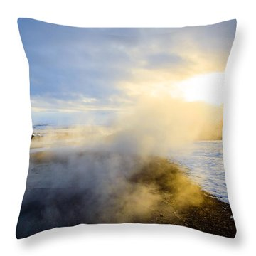 Drawn To The Sun Throw Pillow by Peta Thames