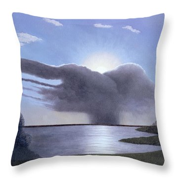 Draycote Cloud, 2004 Oil On Canvas Throw Pillow