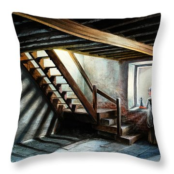Drayton Hall- A Quiet Moment Throw Pillow