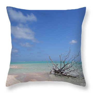 Dream Atoll  Throw Pillow by Jola Martysz