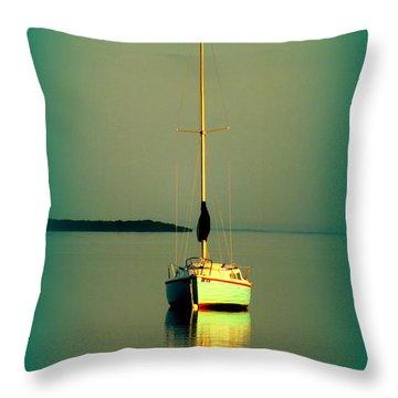 Dream Bay Throw Pillow by Karen Wiles