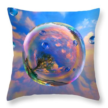 Dream Bubble Throw Pillow by Robin Moline