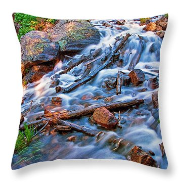 Dream Cascade Throw Pillow by Brian Kerls