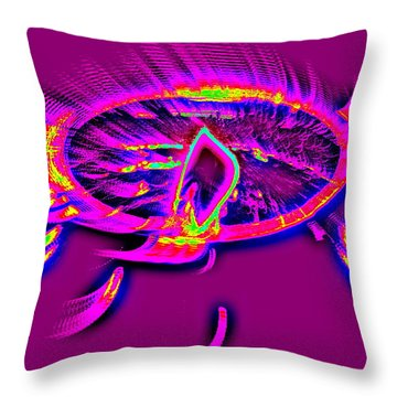 Dream Catcher With Light Throw Pillow