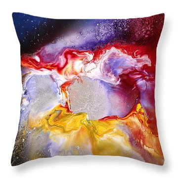 Dream Escape 2 - Modern Liquid Art  Throw Pillow