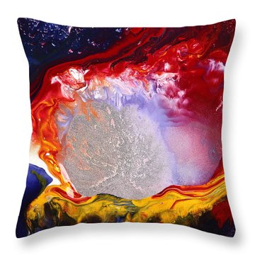 Dream Escape - Modern Fluid Abstract Art By Kredart Throw Pillow