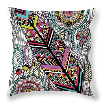 Dream Feather Throw Pillow by Susan Claire