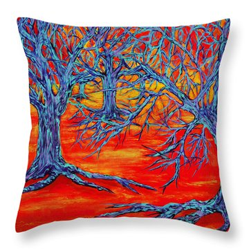 Dream Forest Throw Pillow by RK Hammock