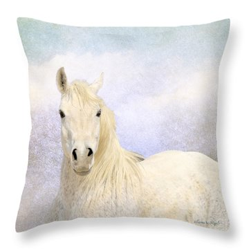 Throw Pillow featuring the photograph Dream Horse by Karen Slagle