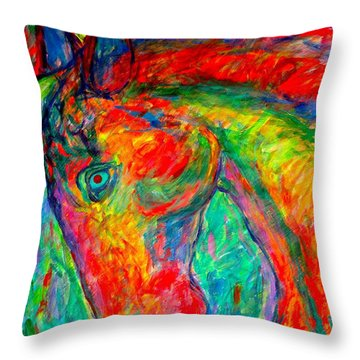 Dream Horse Throw Pillow by Kendall Kessler