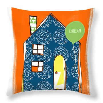 Dream House Throw Pillow by Linda Woods
