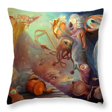 Throw Pillow featuring the painting Dream Immersion by Mikhail Savchenko