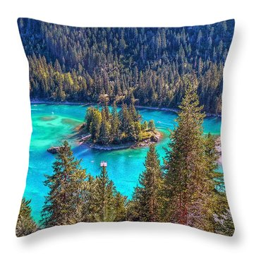Dream Lake Throw Pillow by Hanny Heim