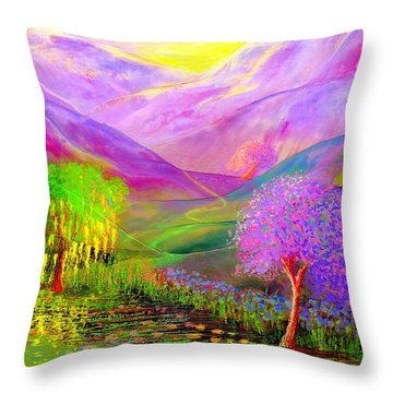 Dream Lake Throw Pillow by Jane Small