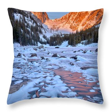 Dream Lake - Rocky Mountain National Park Throw Pillow