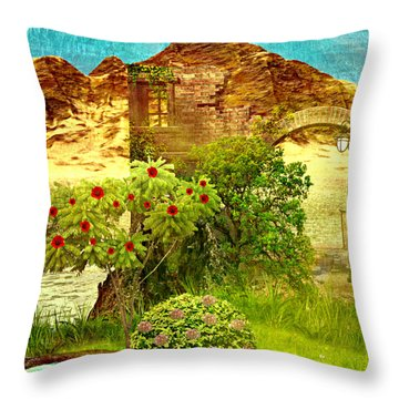 Dream Land Throw Pillow by Ally  White