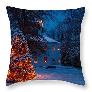 Christmas At The Richmond Round Church Throw Pillow by Jeff Folger