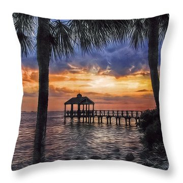 Throw Pillow featuring the photograph Dream Pier by Hanny Heim