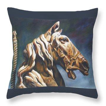 Dream Racer Throw Pillow by Lori Brackett