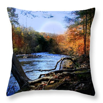 Dream River Throw Pillow