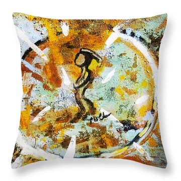 Throw Pillow featuring the painting Dream by Tarra Louis-Charles