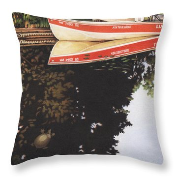 Dream Vacation Throw Pillow by Amy S Turner