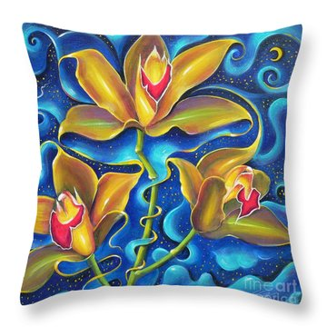 Throw Pillow featuring the painting Dream Within A Dream by S G