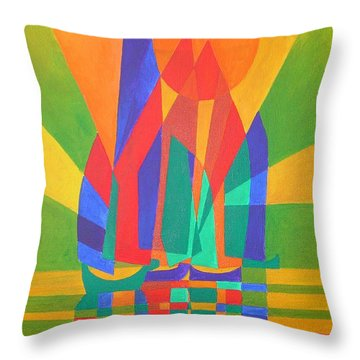 Throw Pillow featuring the painting Dreamboat by Tracey Harrington-Simpson